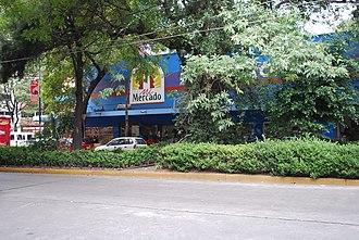 Michoacán Market - Michoacán Market, behind street trees