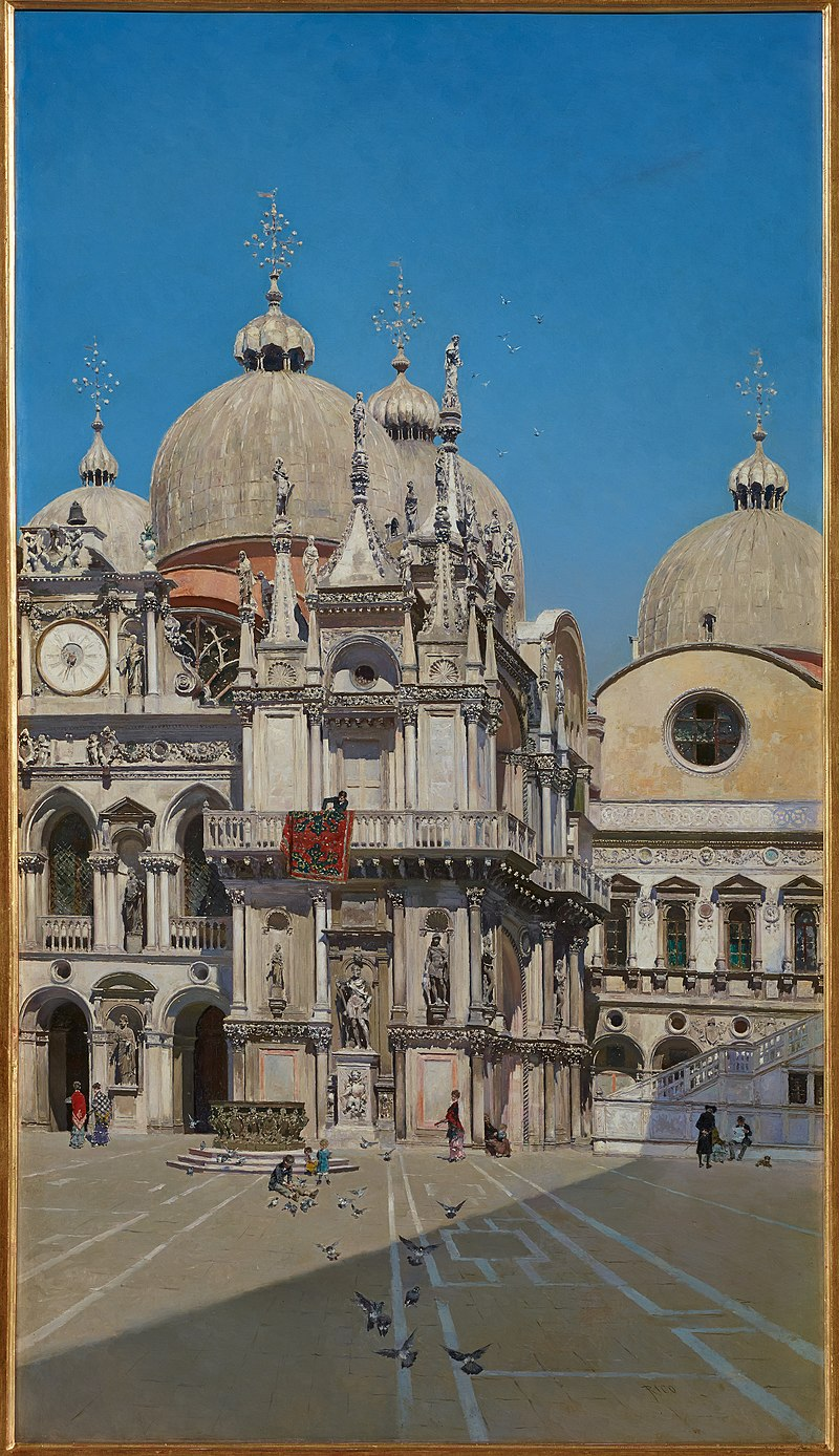 Мартин Рико-и - Ортега - Внутренний двор дворца герцога Венецианского- Google Art Project.jpg