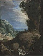 Italian Mountain Landscape with Shepherds