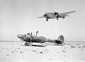 No. 39 Squadron RAF - Martin Marylands of 39 Squadron operating from a landing ground in the Western Desert in 1941