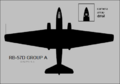Martin RB-57D (Group A) Canberra top-view silhouette.png