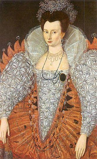 Mary Fitton - Portrait of Mary Fitton circa 1595