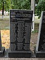 Mass grave of Soviet soldiers and memorial sign to compatriots in Shevchenkove settlement, Kharkiv Oblast by Venzz 32.jpg