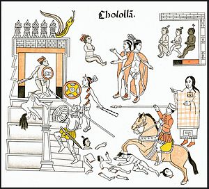 Cholula (Mesoamerican site) - The massacre of Cholula