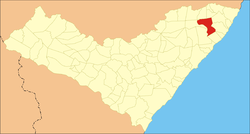Location of Matriz de Camaragibe in the State of Alagoas