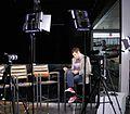 Matt Schichter on the set of MSN Exclusives, 2013.jpg