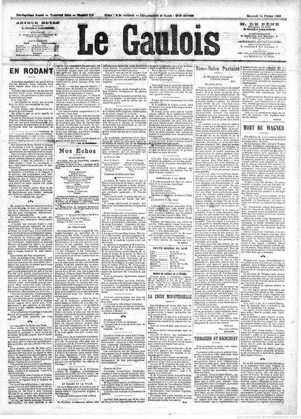 File:Maupassant - En rôdant, paru dans Le Gaulois, 14 février 1883.djvu