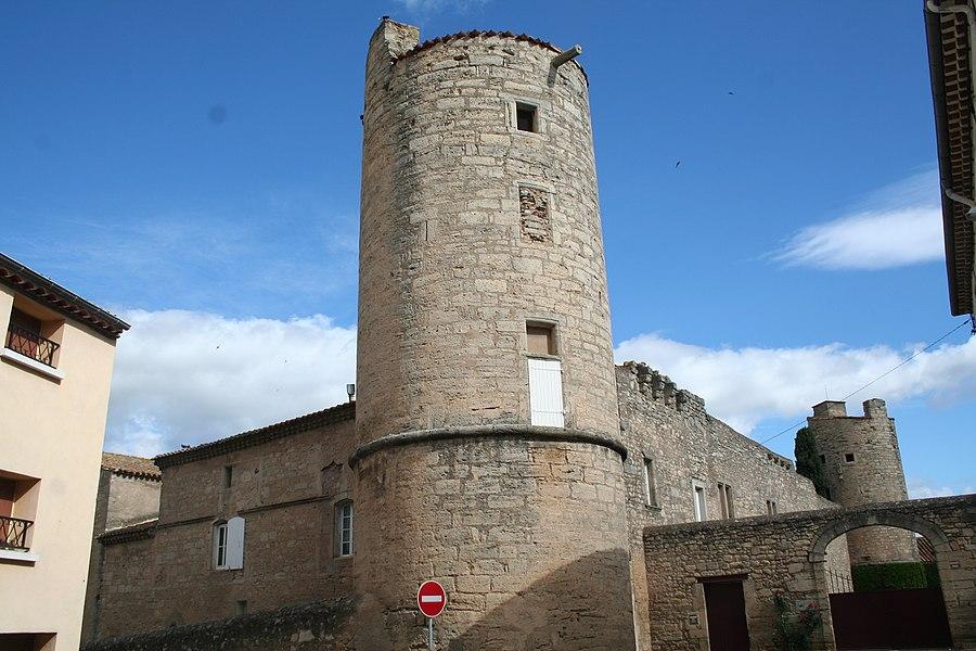 Maureilhan (Hérault) - château, façade est.