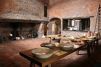 Gainsborough Old Hall - Image: Medieval kitchen geograph.org.uk 531916