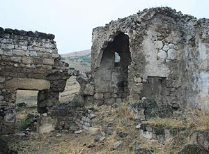 Medieval ruins at Tsopi, Georgia.jpg