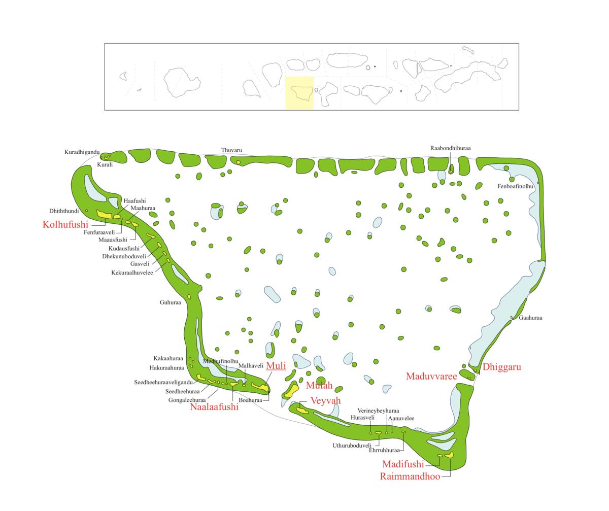 Karte des Distrikts Meemu