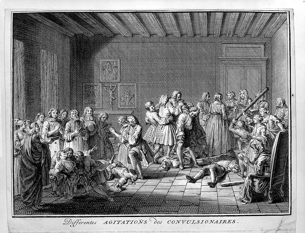 Members of the Jansenist sect having convulsions and spasms Wellcome L0003021