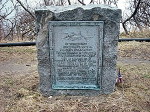Coast Guard Station Manomet Point -  Memorial marker
