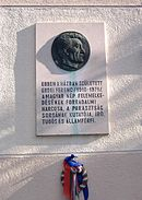 Memorial tablet Erdei Ferenc house.JPG