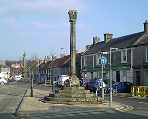 Kincardine - The Mercat cross at Kincardine, 2007
