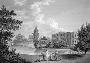 Merton (parish) - Merton Place, copperplate, 18th century