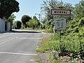 Merval (Aisne) city limit sign.JPG