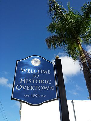 Overtown (Miami) - Overtown Folklife Village sign on the NW 2nd Avenue