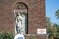 Michael Archangel statue - St Casimir Church - Cleveland.jpg