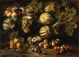 Still Life with Melons, Peaches, Figs, and Grapes