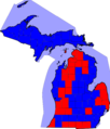 Michigan Gubernatorial Election Results by county, 2006.png