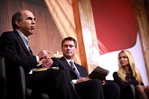 Mickey Kaus - Kaus debating Ann Coulter at the 2014 Conservative Political Action Conference (CPAC) in March 2014.
