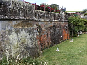 Georges Head Battery - Exterior of gunners' barracks attached to the Georges Head Battery