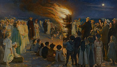 Midsummer Eve bonfire on Skagen's beach - P.S. Krøyer - Google Cultural Institute.jpg