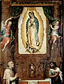 Miguel Cabrera - Altarpiece of the Virgin of Guadalupe with Saint John the Baptist, Fray Juan de Zumárraga and Juan Diego - Google Art Project.jpg