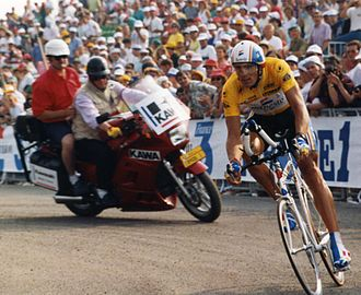 1993 Tour de France - Miguel Indurain in the penultimate stage's individual time trial