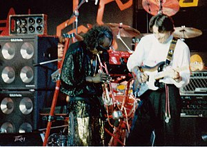 Miles Davis et Robben Ford in 1986 at Montreux...