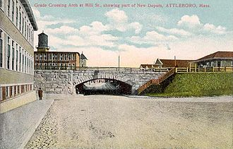 Attleboro, Massachusetts - Mill Street in 1908