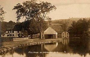 Henniker, New Hampshire - West Henniker millpond in 1914