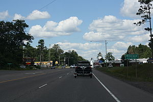Minocqua, Wisconsin - Image: Minocqua Wisconsin Sign Looking north US51