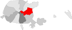 Location of Partyzanski (Партызанскі)