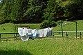 Mitterbach am Erlaufsee - Schutzhaus Vorderötscher - Bettwäsche in Bergluft getrocknet.jpg