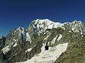Monte Bianco - versante italiano - + funivia rifugio Torino-P.ta Helbronner.JPG