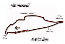 Circuit Gilles Villeneuve (last modified in 1996)