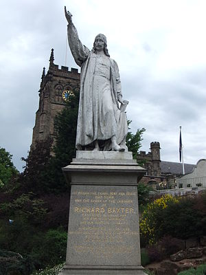 Richard Baxter - Richard Baxter Statue at St Mary's Church, Kidderminster