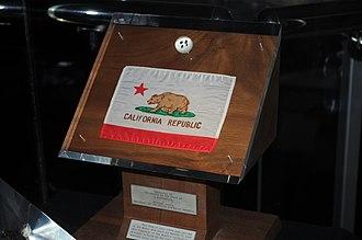 California lunar sample displays -  Apollo 11 lunar sample display