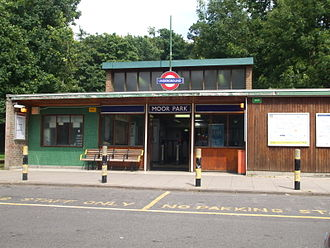 Moor Park tube station - Main entrance, on the northbound side