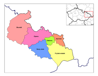 Moravian-Silesian Region - Districts of Moravia-Silesia