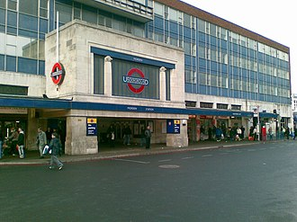 Morden tube station - The station entrance