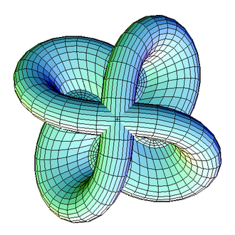 Mathematical visualization - A Morin surface, the half-way stage in turning a sphere inside out.