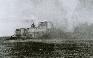 Bombardment of San Juan - Castillo San Felipe del Morro during the battle.