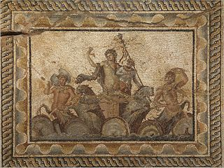 Mosaic Image made from small colored tiles