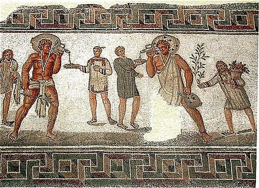 Mosaique echansons Bardo