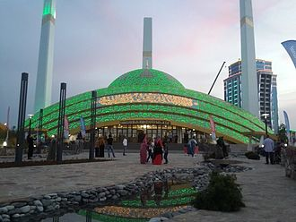 Argun, Chechen Republic - Image: Mosque in Argun 02