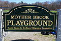 Mother Brook Playground sign at Condon Park in Dedham, MA.JPG