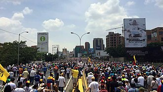 2017 Venezuelan Constituent Assembly election - Millions of Venezuelans protesting during the Mother of All Marches